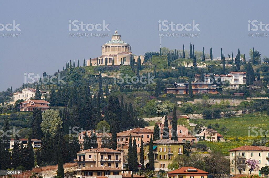 hill of itlay verona stock photo