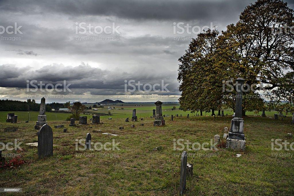 Cerro cementerio superior foto de stock libre de derechos