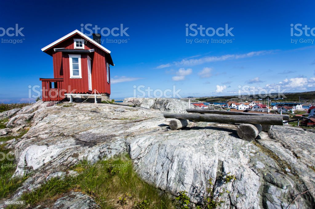 Hill top cottage at Vrango - Royalty-free Archipelago Stock Photo