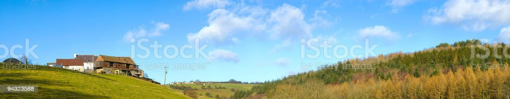 Hill top farm royalty-free stock photo