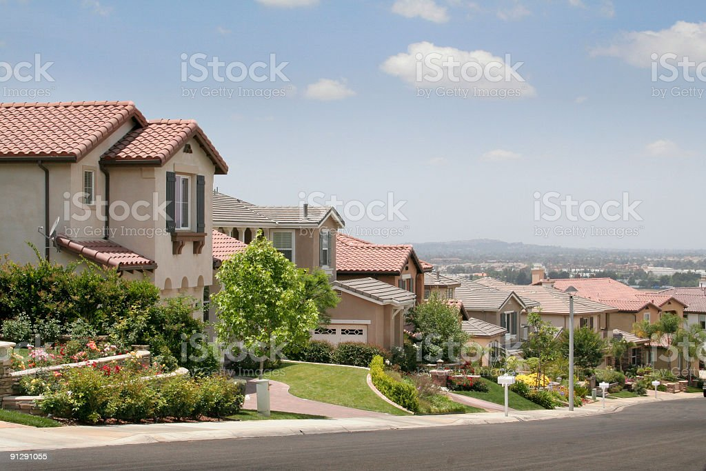 Hill Top Neighborhood stock photo