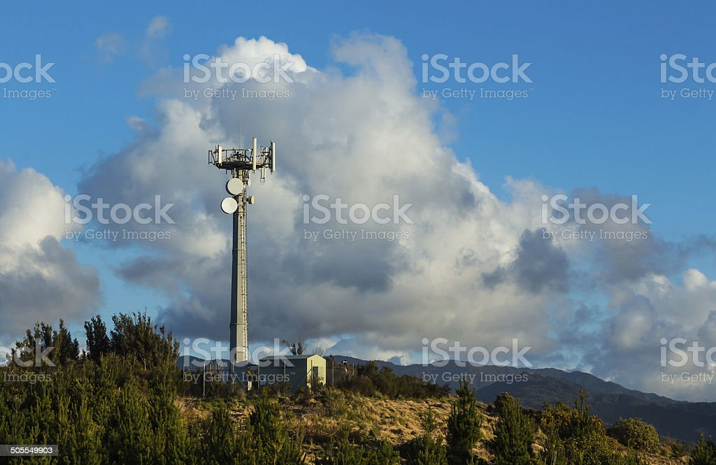 Hill Top Transmission Tower stock photo