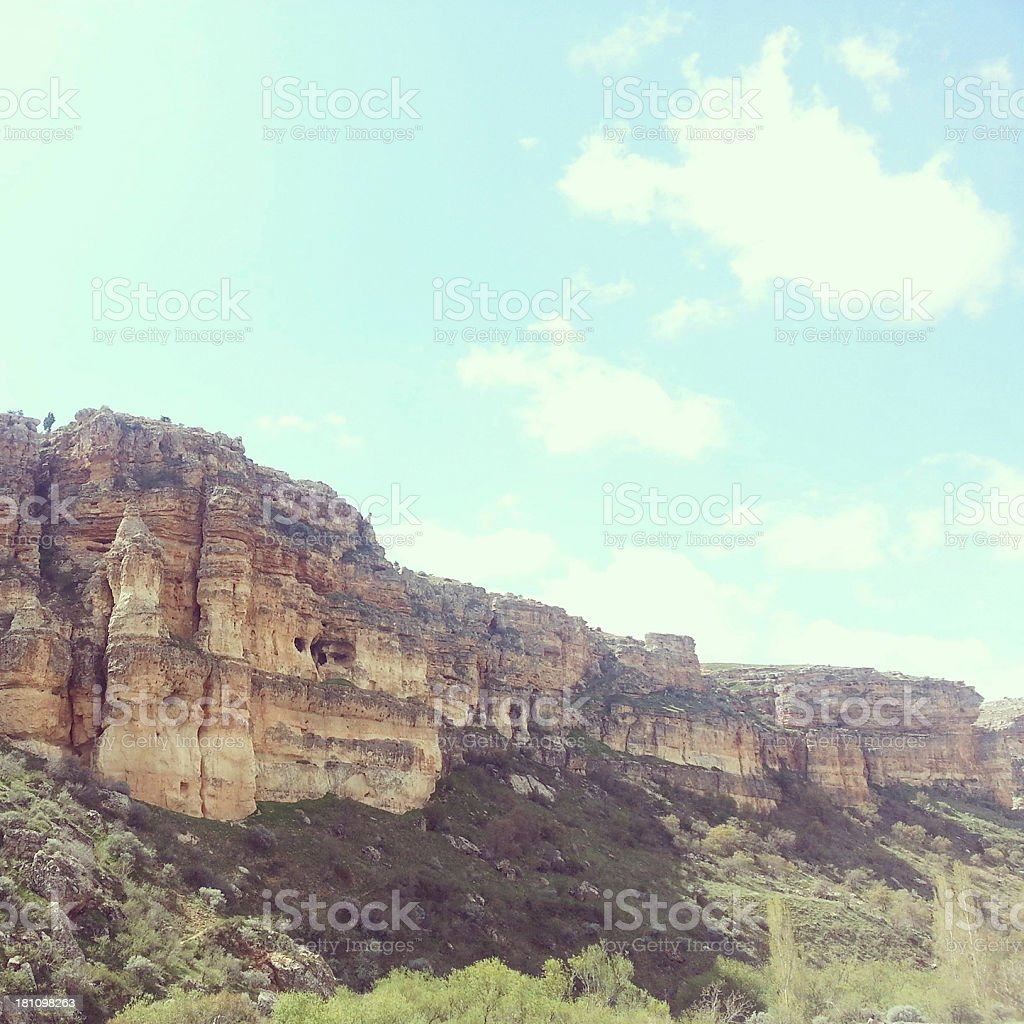 Hill with beautiful landscape royalty-free stock photo
