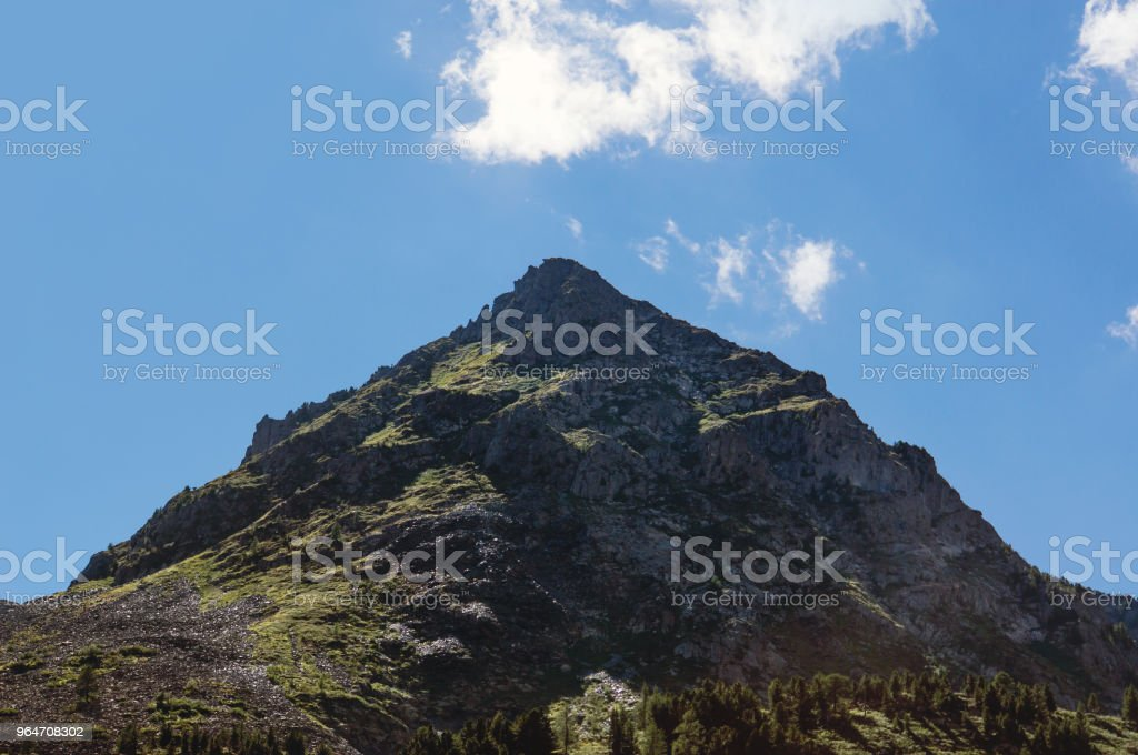 Hill with blue sky background. Nepal landscape royalty-free stock photo