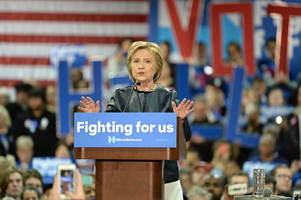 хиллари клинтон кампании - кандидат на пост президента стоковые фото и изображения