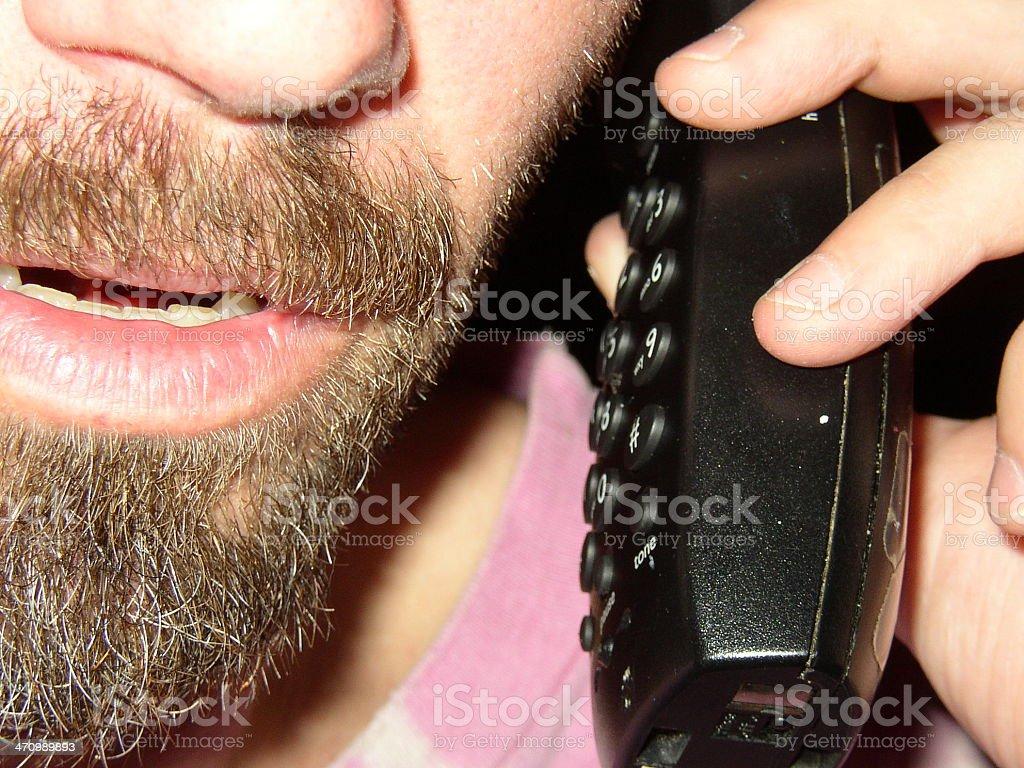 Hillbilly on phone royalty-free stock photo