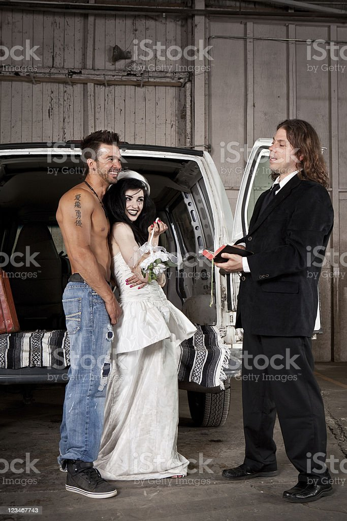 Hillbilly Redneck Wedding Stock Photo - Download Image Now