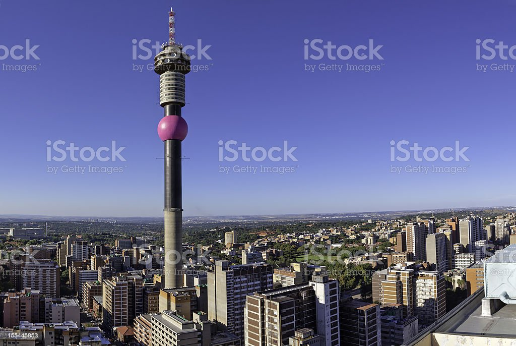 Hillbrow Tower Cityscape stock photo