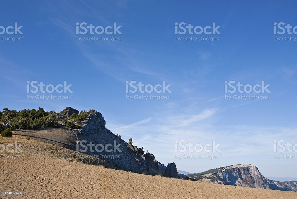 Hillman Peak and Llao Rock royalty-free stock photo