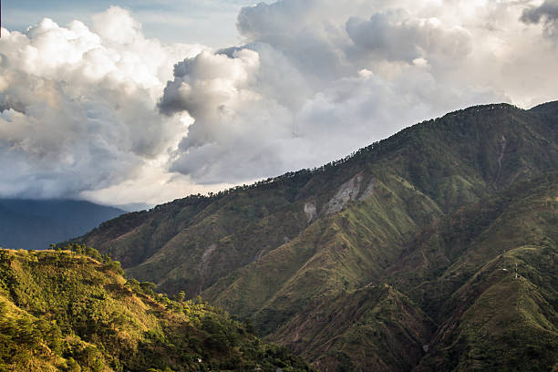 hills and clouds - baguio city stock photos and pictures