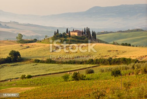 istock Hills and landscape of Tuscany 157328927