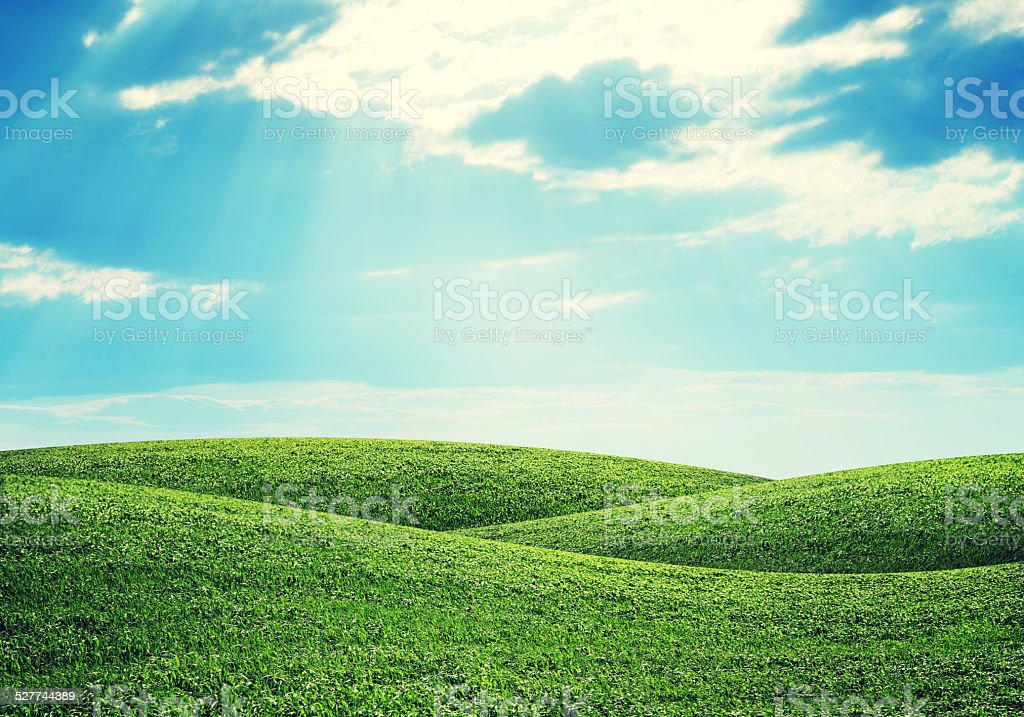 Hills and sky stock photo