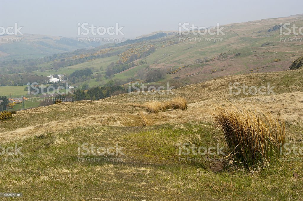 Hills behind Largs royalty-free stock photo