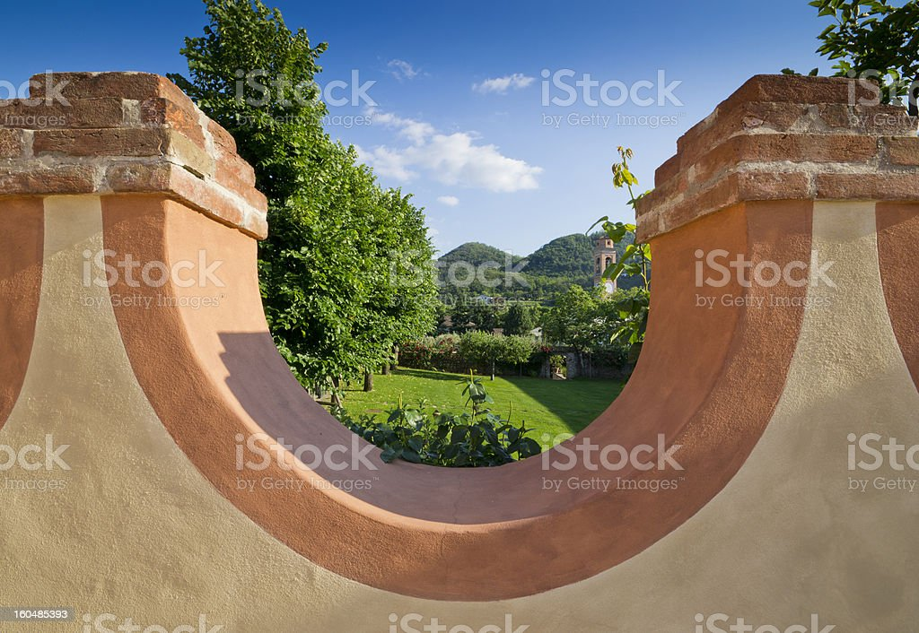 Hills beyond the wall royalty-free stock photo