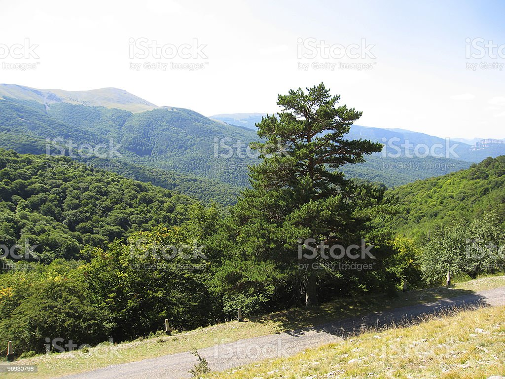 Hills in Crimea royalty-free stock photo