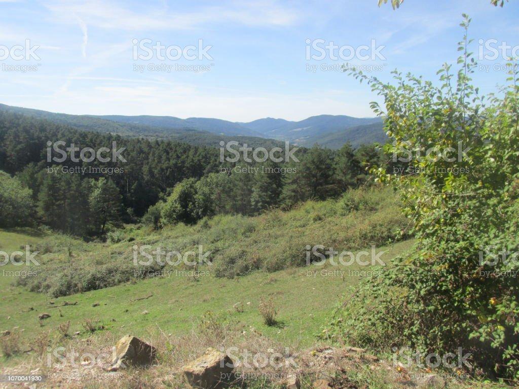 Hills in Spain stock photo
