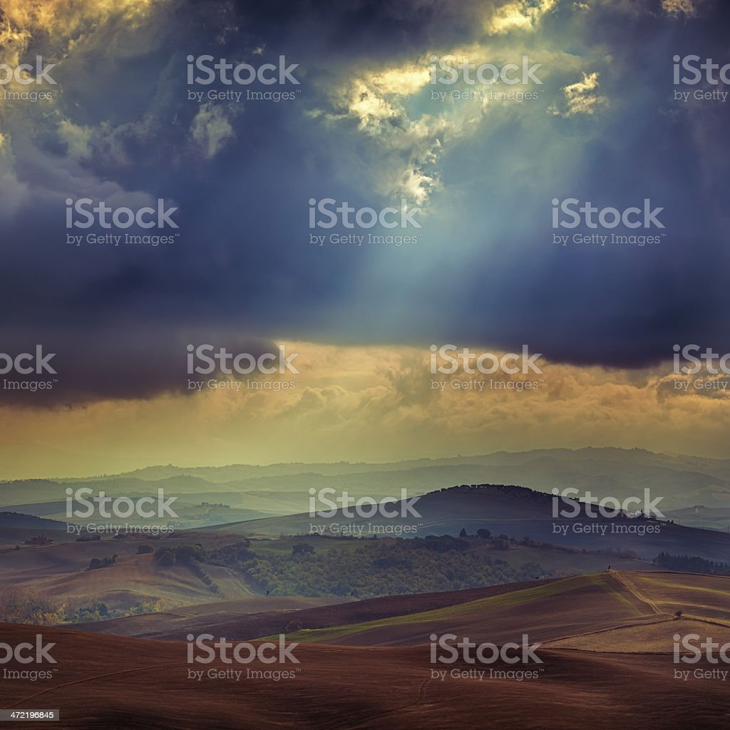 hills in Tuscany royalty-free stock photo