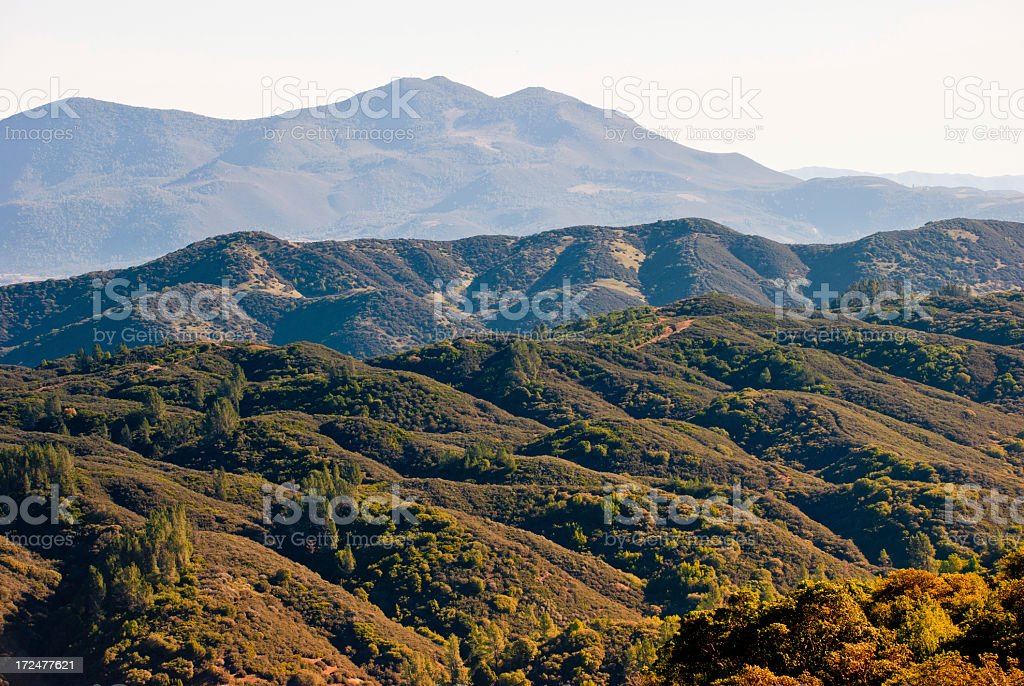 Hills of California royalty-free stock photo