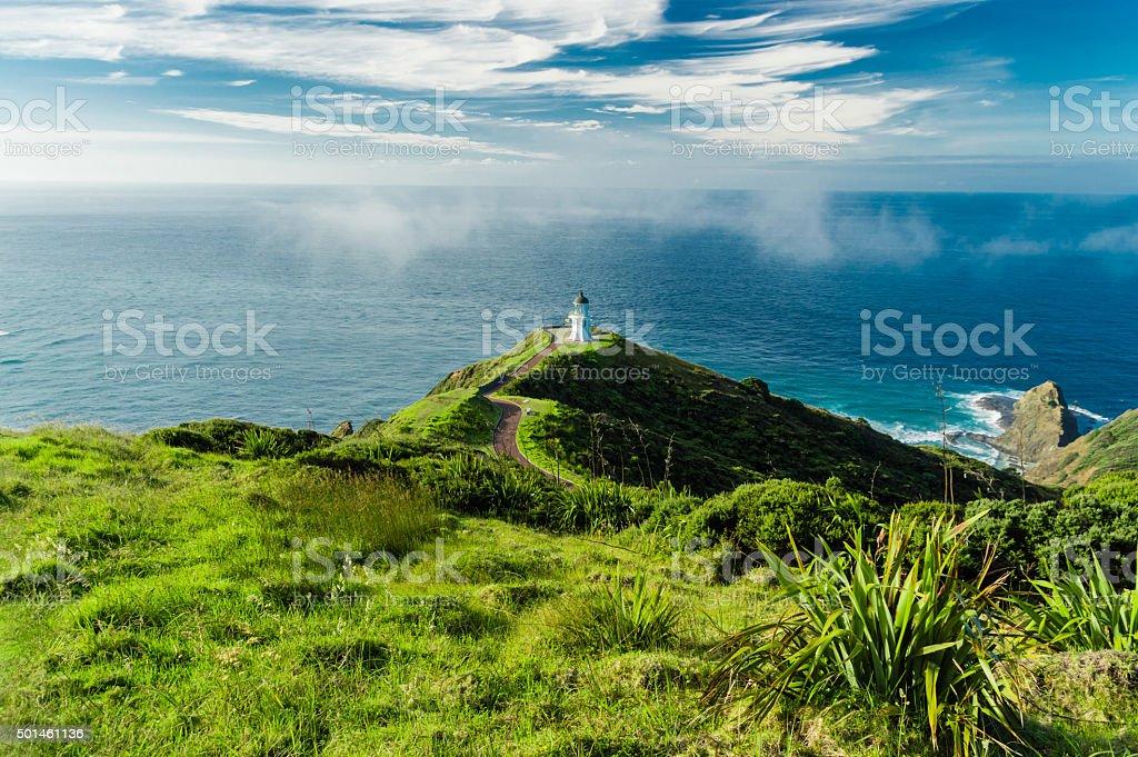 Hills of Cape Reinga stock photo