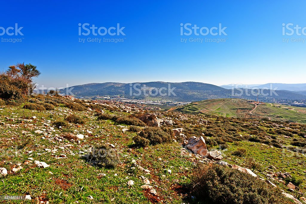 Hills of Galilee stock photo
