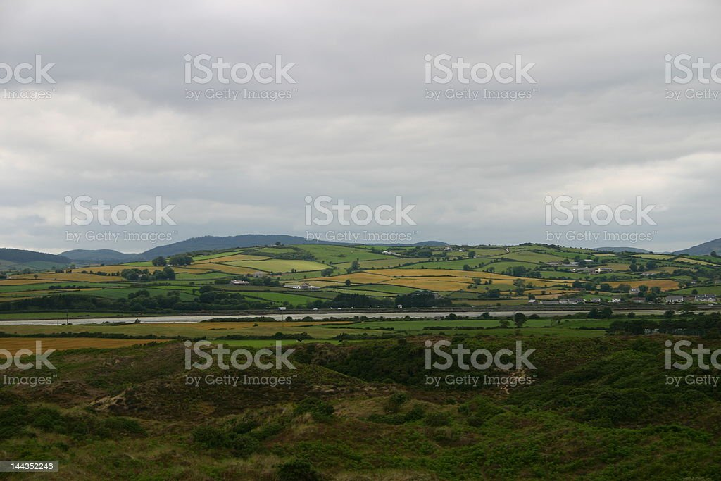 Hills of Ireland stock photo