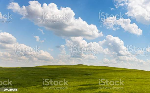 Photo of Hillside and Blue Sky
