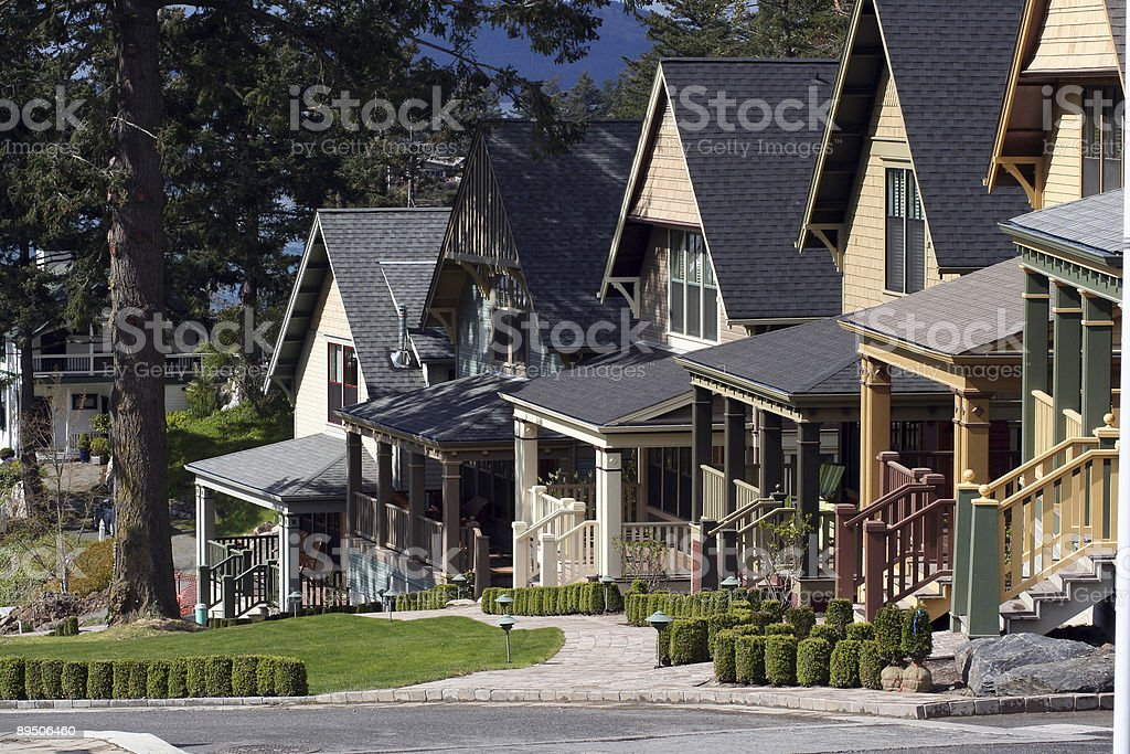 Hillside condos royalty-free stock photo