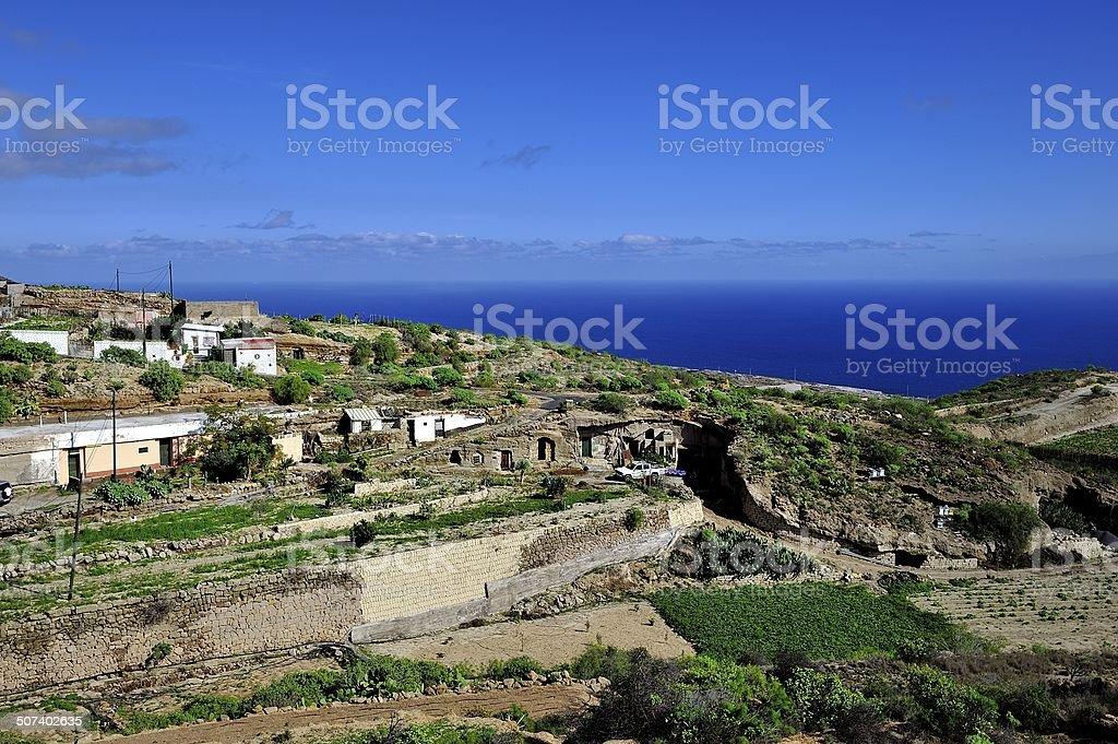 Hillside Gardens of Tenerife royalty-free stock photo
