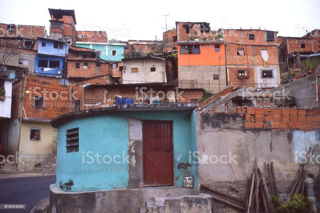 Hillside slums in the outskirts of Caracas Venezuela South America stock photo