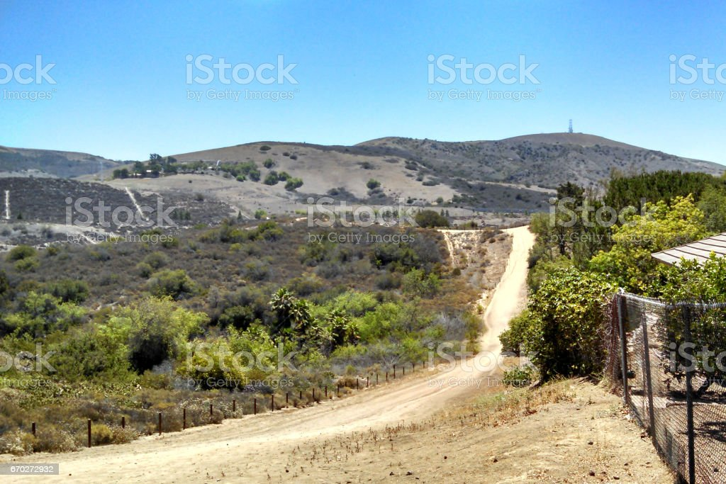Hillside Trail in Orange County stock photo