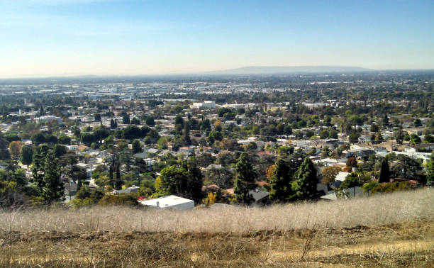 A Hillside View of the City of Whittier stock photo