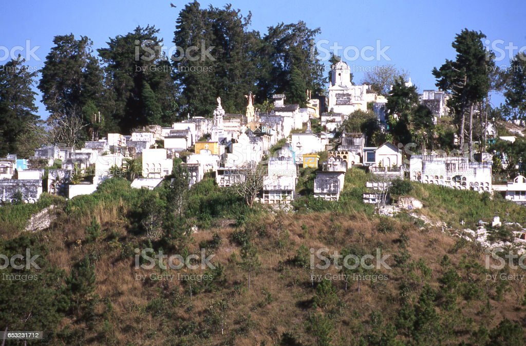 Hilltop cemetery in Santa Rosa de Copan Honduras Central America stock photo