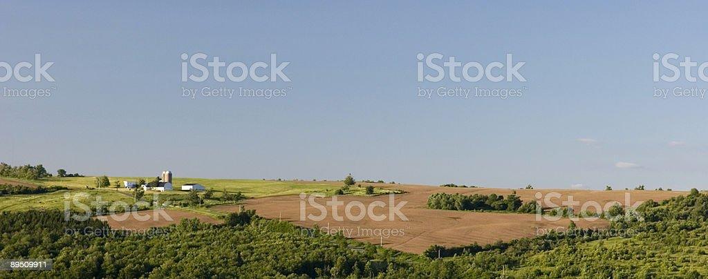 Hilltop Farm Lizenzfreies stock-foto