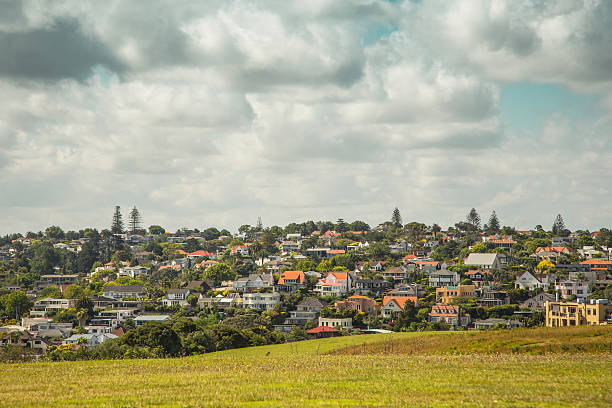 Hilltop Suburban Real Estate stock photo