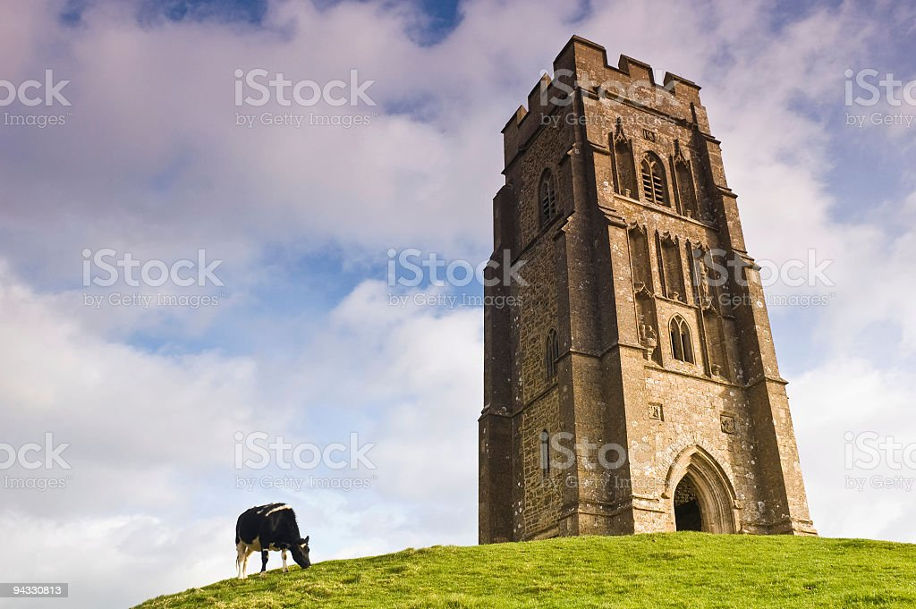Hilltop tower stock photo