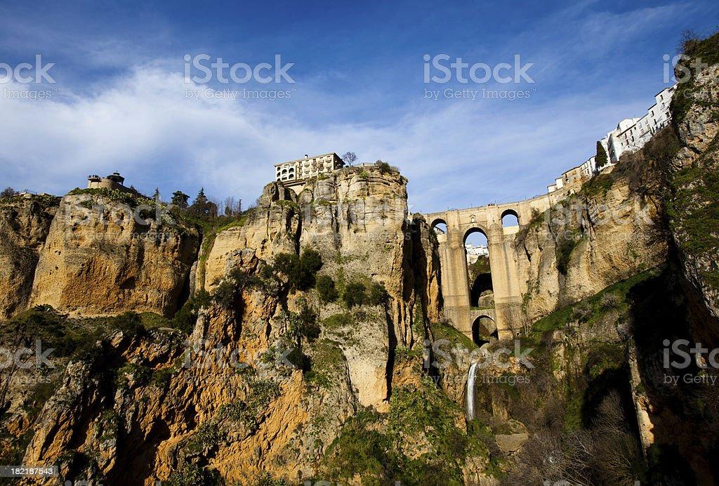 Hilltop town in Spain - Ronda stock photo