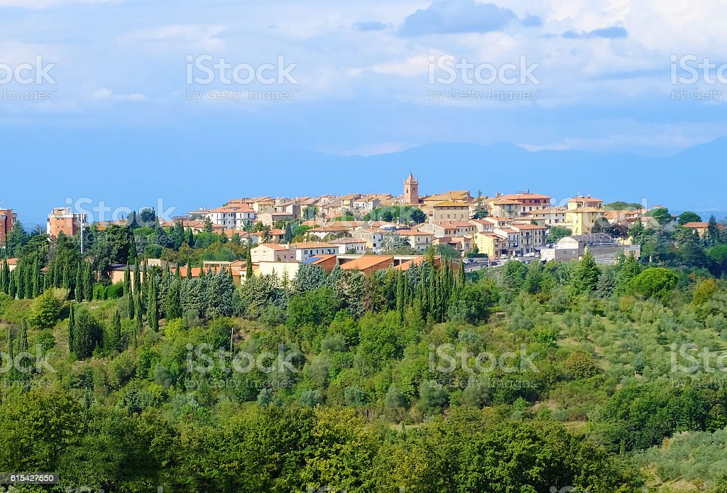 Hilltop Tuscany Town stock photo