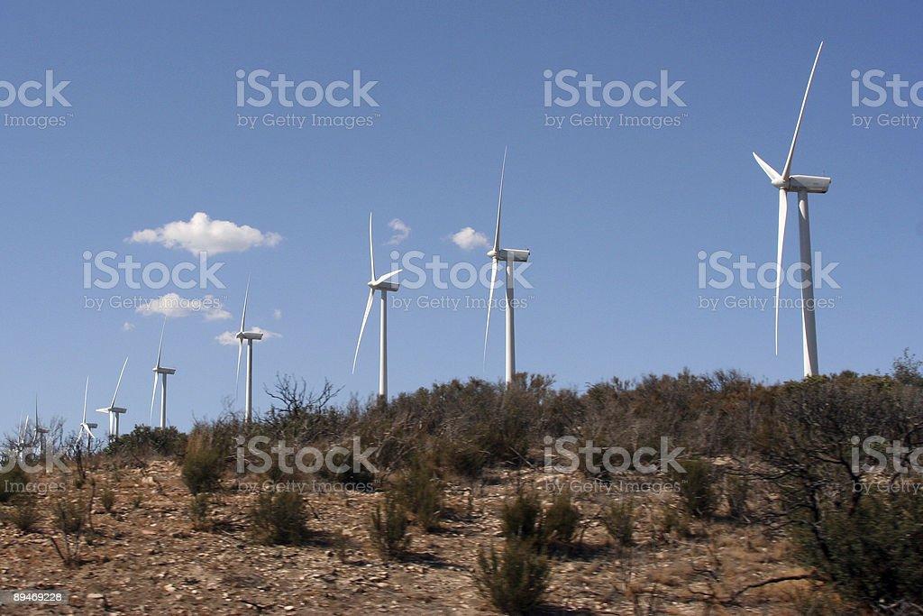 Hilltop Windmills royalty-free stock photo