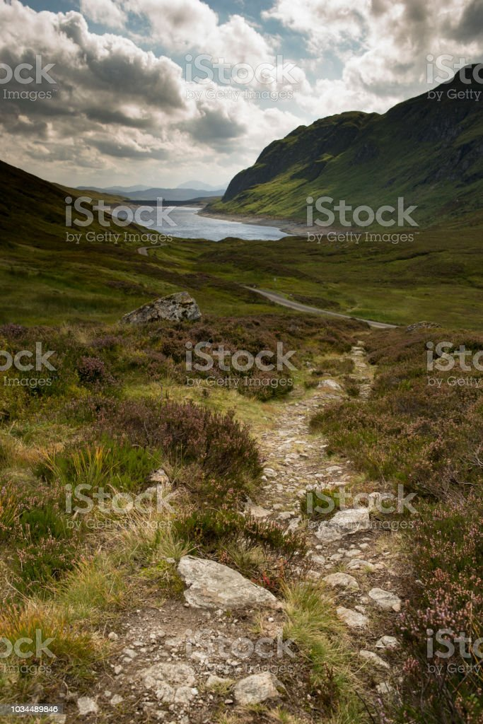 Hillwalking in Scotland - Meall Corranaich 1 stock photo