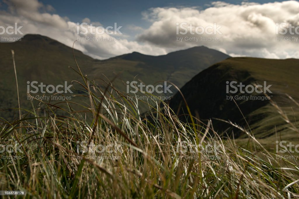 Hillwalking in Scotland - Meall Corranaich 3 stock photo