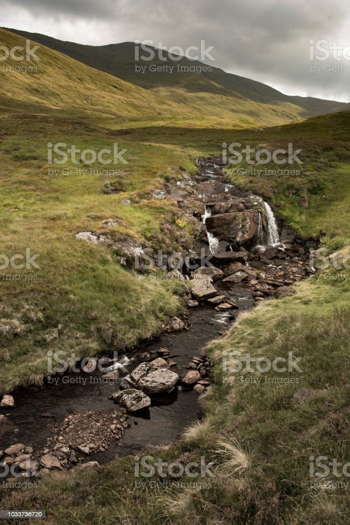 Hillwalking in Scotland - Meall Corranaich 4 stock photo