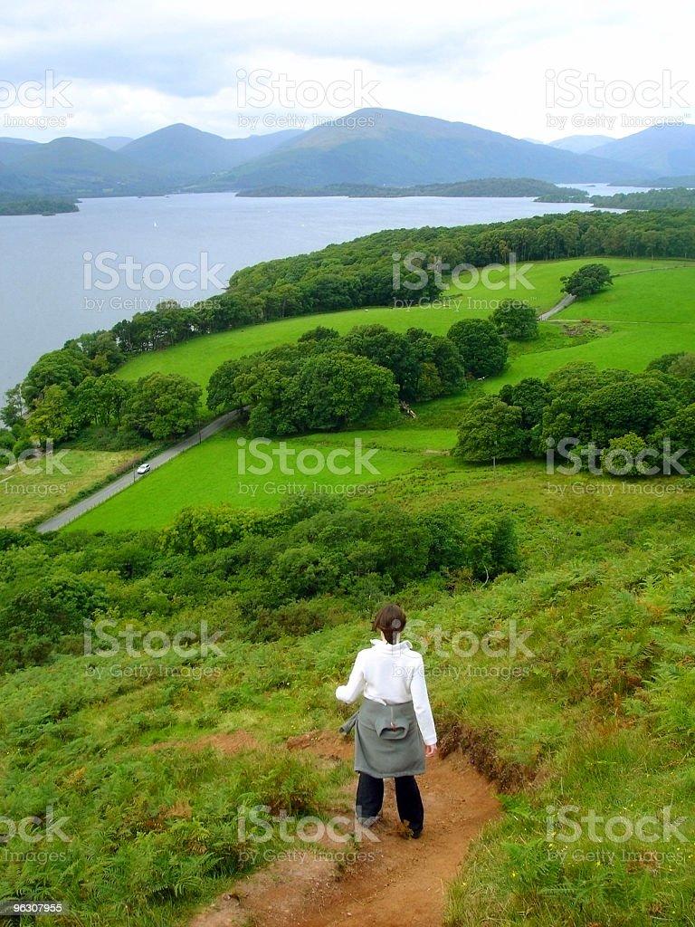 Hillwalking, Loch Lomond, Scotland royalty-free stock photo