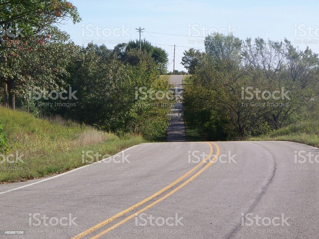 Hilly Road stock photo