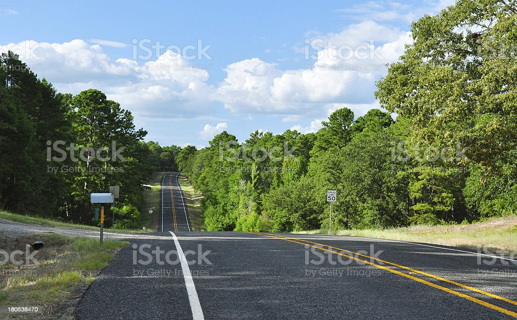 Hilly Rural Road royalty-free stock photo