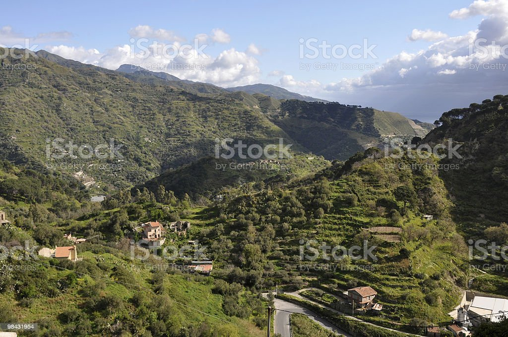 hilly sicily royalty-free stock photo
