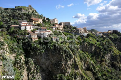 Hilly Sicily Stock Photo & More Pictures of Color Image