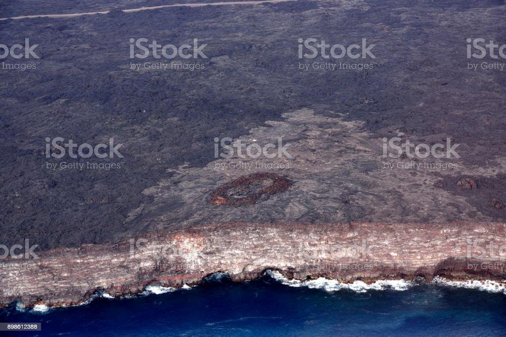 Hilo Land Growth Lave Flow stock photo