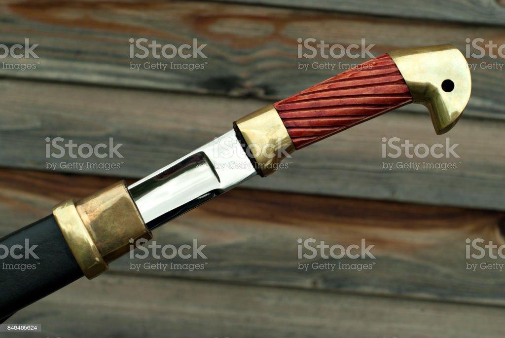 hilt of the shashka stock photo