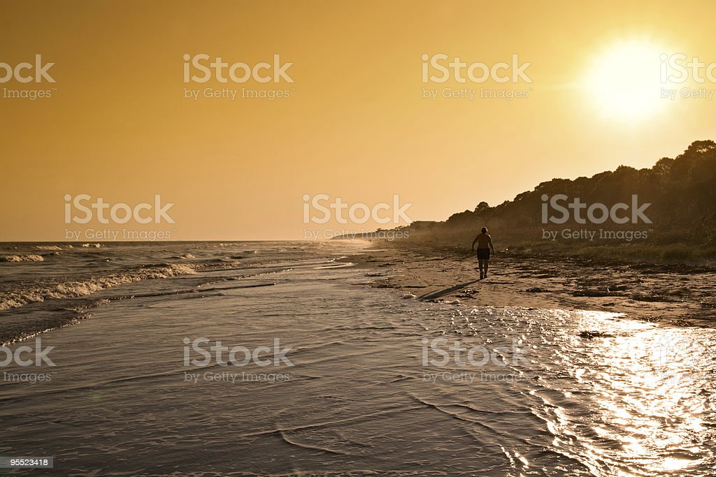 Hilton Head Sunset royalty-free stock photo