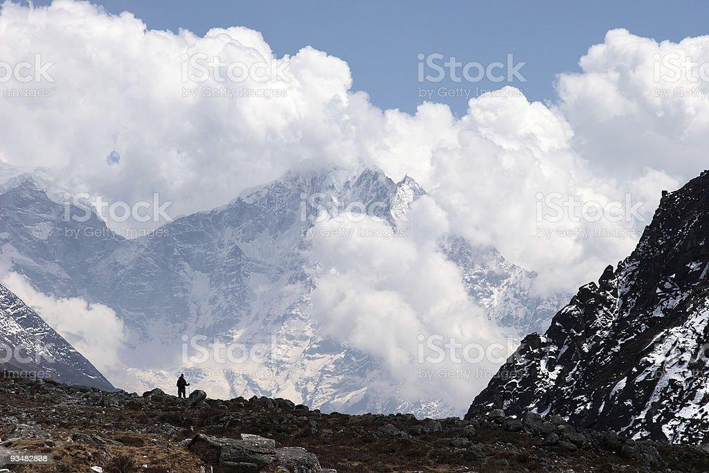 Himalaya 구름 풍경, 네팔 - 로열티 프리 겨울 스톡 사진